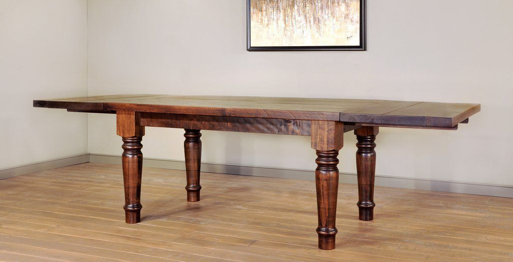 tahoe dining table amish made solid wood rustic industrial farmhouse dining