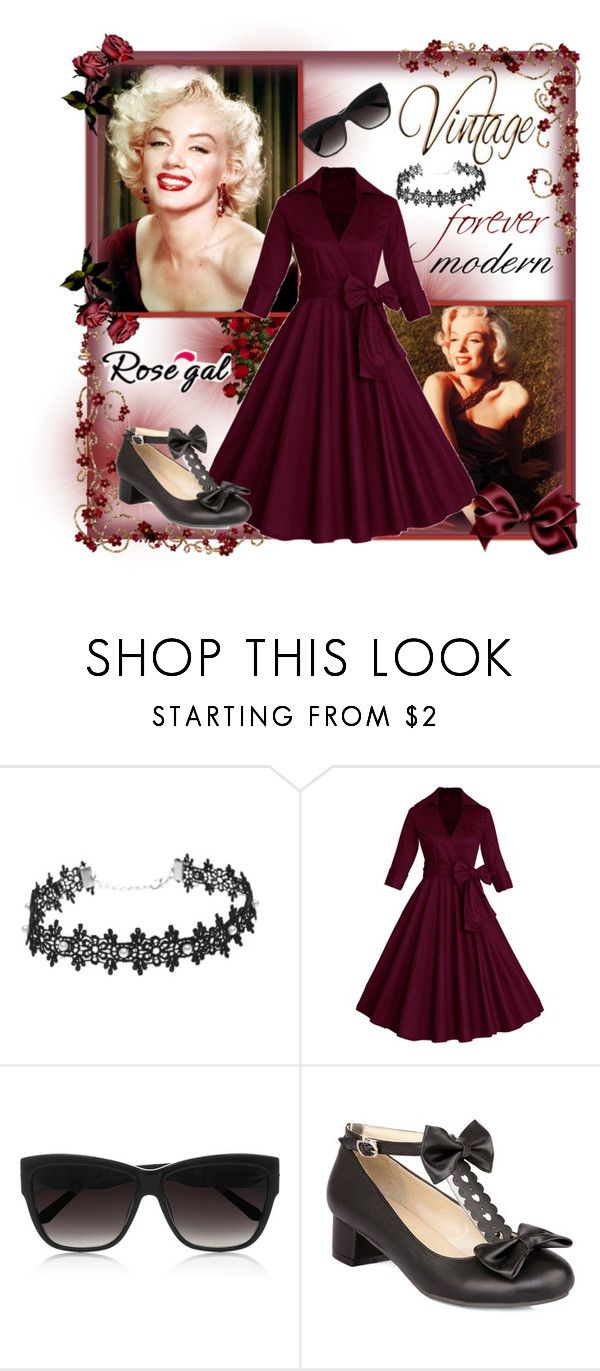 """""""Win $20 Cash from Rosegal - Style that never dies"""" by kmorena ❤ liked on Polyvore featuring Linda Farrow and vintage"""