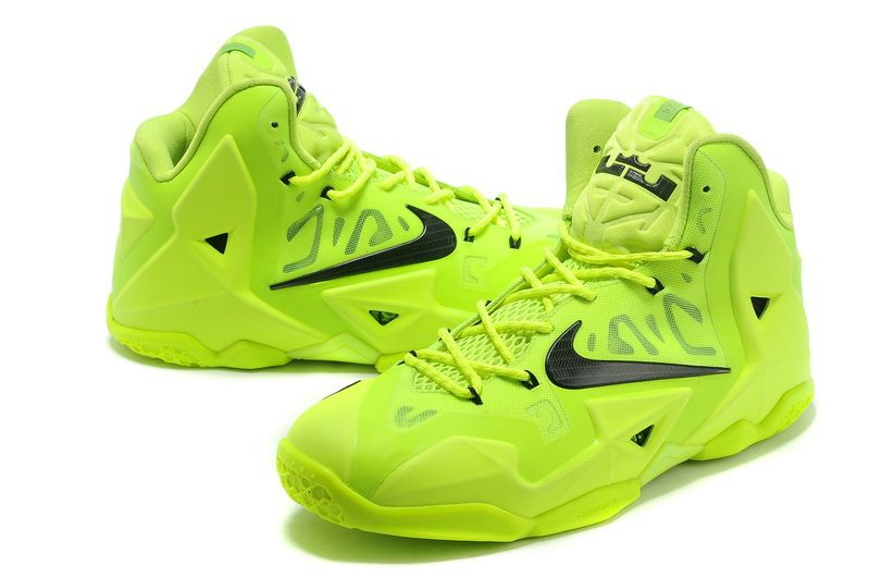 For Sale Lebron 11 Shoes Electric Green Black Volt 616175 302