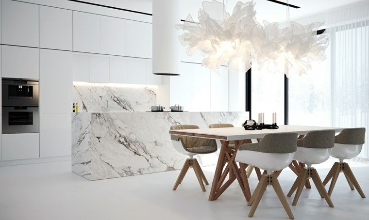 Déco cuisine marbre à travers une galerie d\'intérieurs design | Mood ...