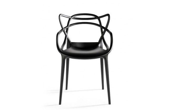 chaise design master noire mate - Chaise Noire Design
