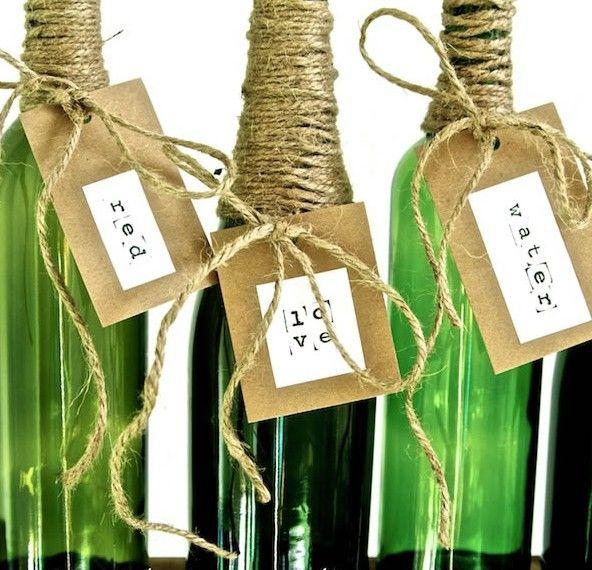 Botellas decoradas simply southern floral arrangement - Botellas de vino decoradas ...