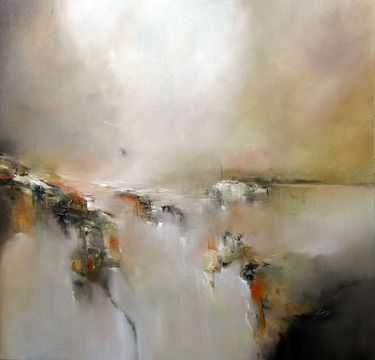 """Saatchi Online Artist: Alison Johnson; Oil, 2013, Painting """"Waiting at the edge"""""""