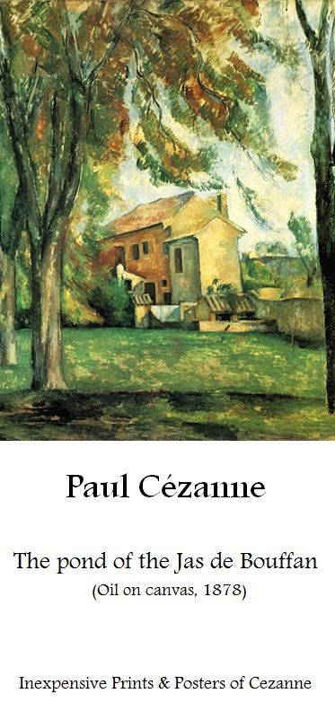 Paul Cezanne, The pond of the Jas de Bouffan | Affordable Art-prints and Posters of Paul Cezanne