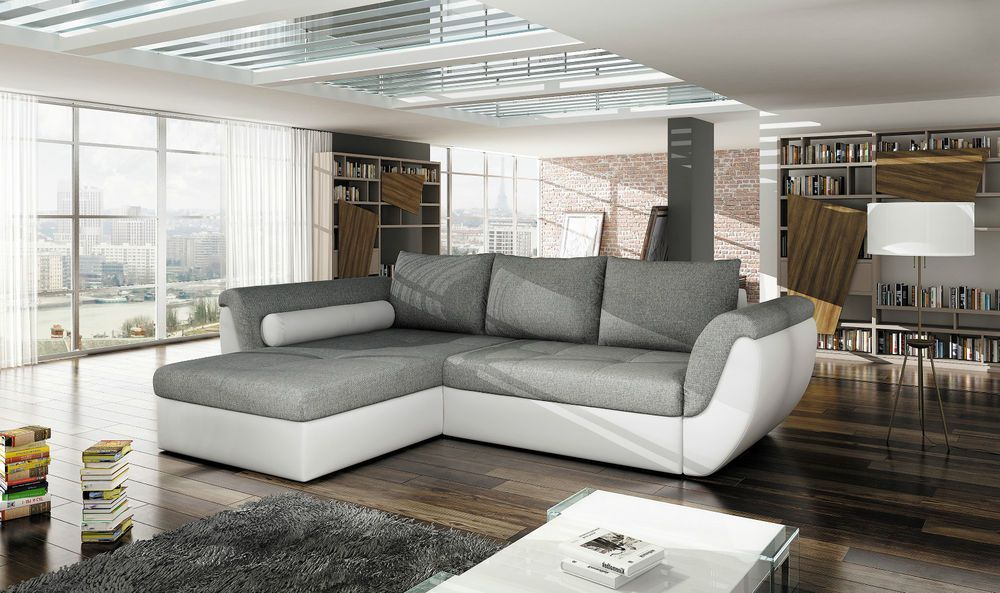 Couchgarnitur Flash Couch L Sofa Sofagarnitur Polsterecke Schlaffunktion