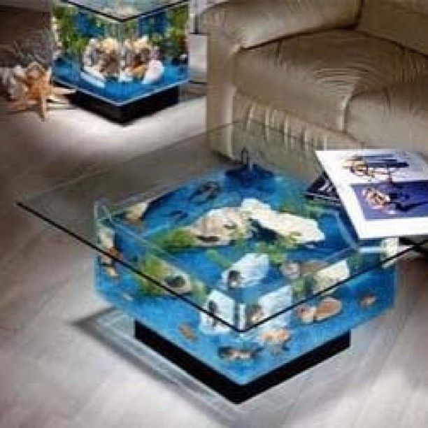 Aquarium coffee table (awesomeinventions)