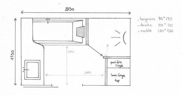 mon plan de sdb 5m2 vos avis 5 messages salle de bain pinterest salle de bains. Black Bedroom Furniture Sets. Home Design Ideas