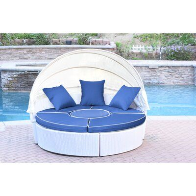 Latitude Run® Bourbana All-Weather 4 Piece Rattan Complete Patio Set with Cushions | Wayfair