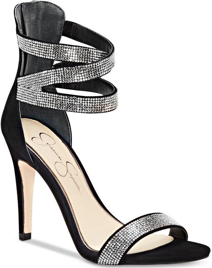 Jessica Simpson Elepina Rhinestone Dress Sandals Women's