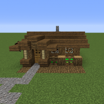 Small Me val Rustic Starter Home Blueprints for MineCraft Houses Castles Towers and more