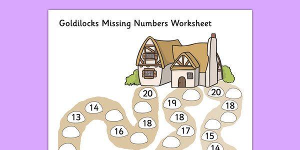 Goldilocks Missing Numbers Worksheet - goldilocks, worksheet | EYFS ...
