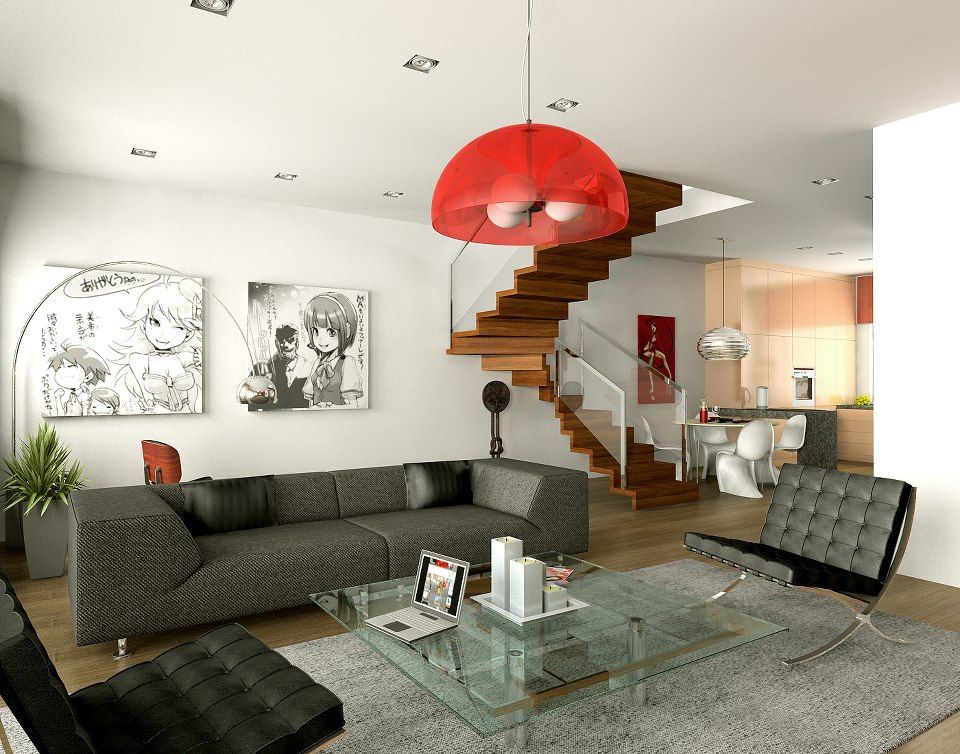 Modern Living Room Red manga living room <3 | anime theme room ♥ | pinterest | manga