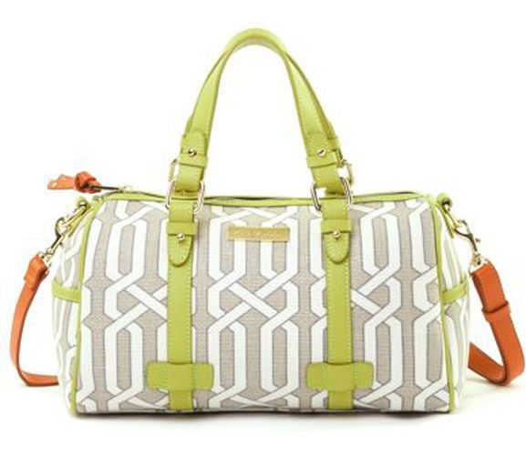 Spartina 449 Veranda Barrel Satchel Handbag Bag Purse Lime Green Msrp 142 Nwt