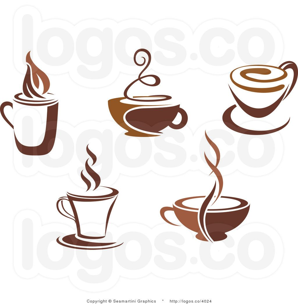 royalty free coffee cups collage logo by seamartini graphics rh pinterest co uk