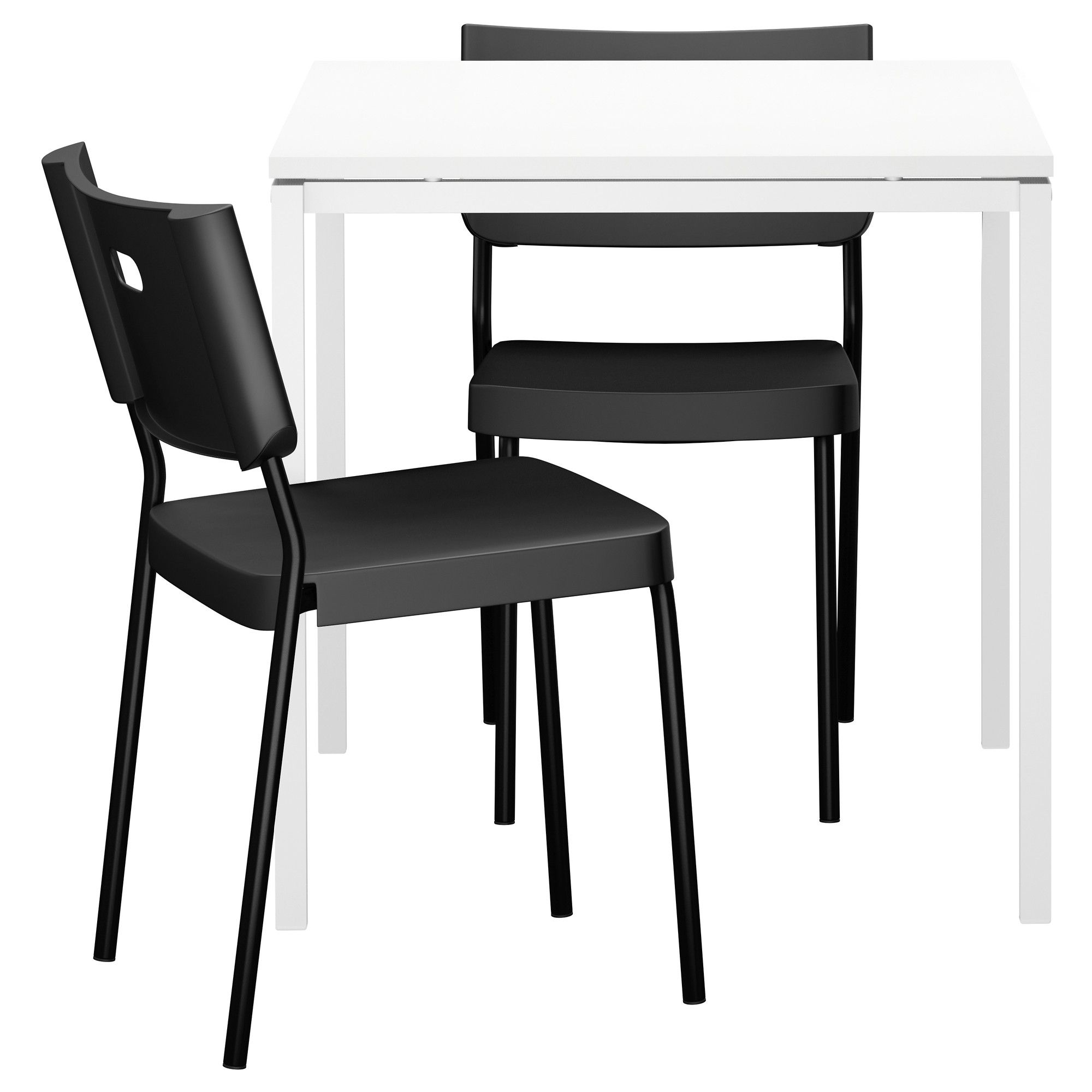Melltorpherman table and chairs whiteblack ikea youth