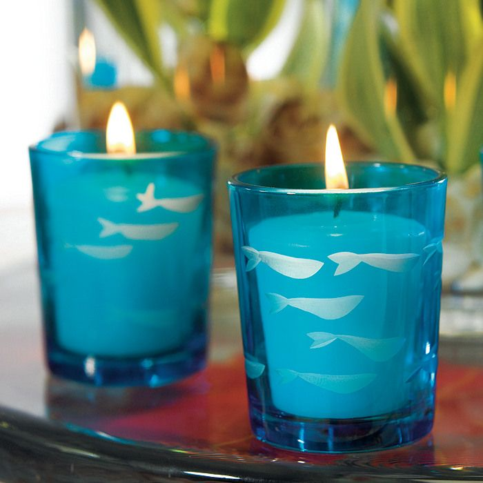 Blue Fish Votive Candle Holder