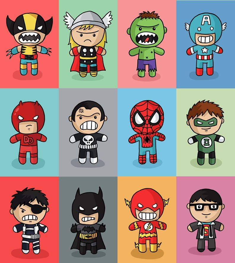Super 4 Cartoon Characters : Cute super heroes perfect nursery decor ideas
