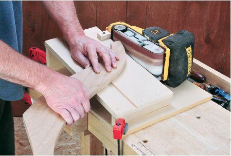 How To Build A Sanding Jig To Make Your Belt Sander A Benchtop Tool Rockler Belt Sander Jig Belt Sander Woodworking