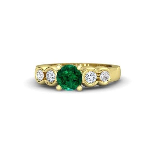 Gemvara Nikki Ring ($3,160) ❤ liked on Polyvore featuring jewelry, rings, engagement rings, gemvara, stone jewelry, stone engagement rings and stone rings
