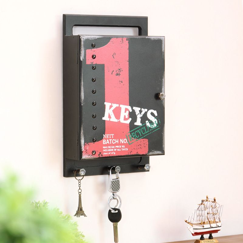 Decorative Key Box For The Wall Wooden Box Wall Storage Hook Vintage Letter Holder Box Hanger
