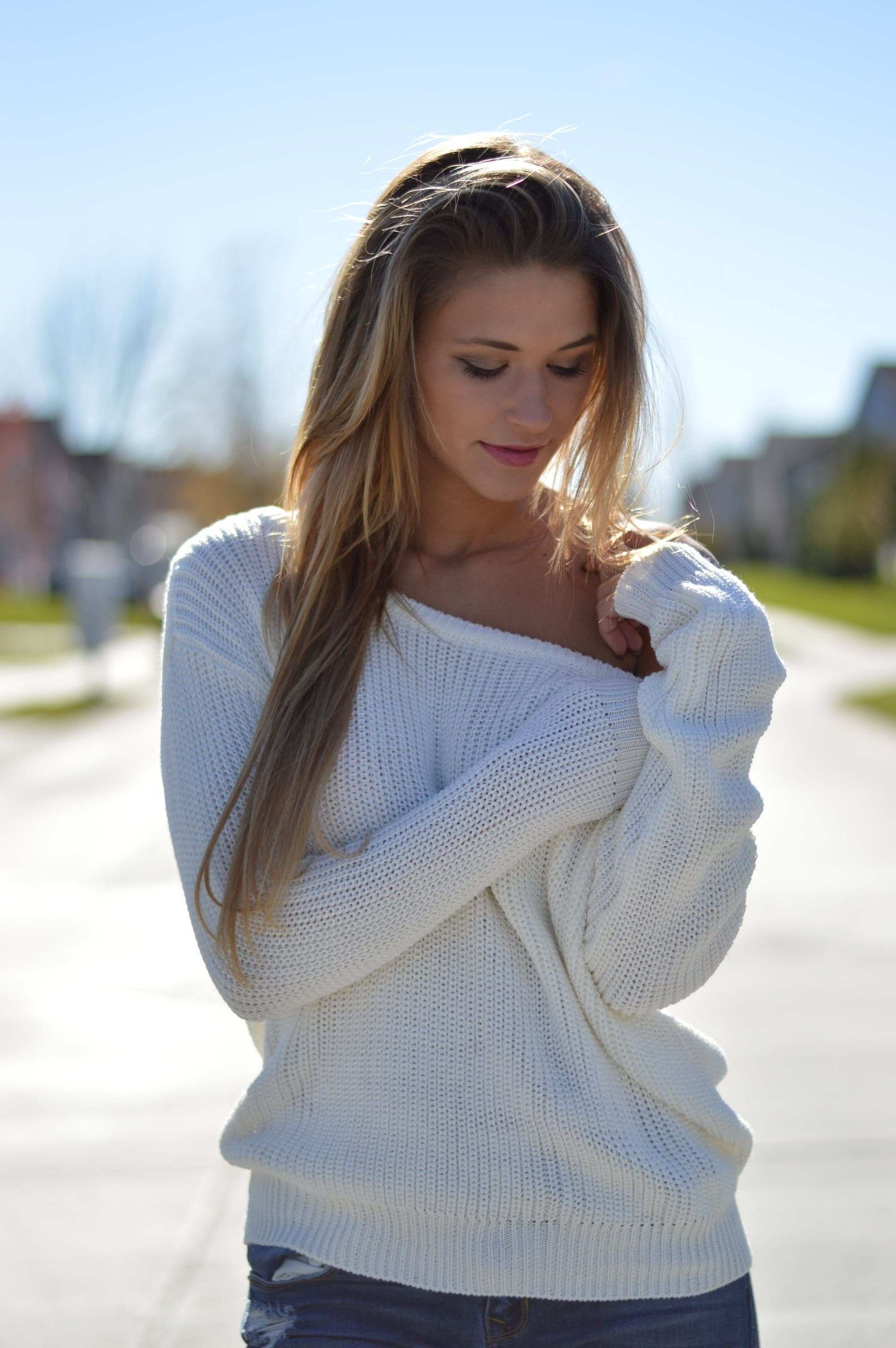 Ivory Textured Knit Sweater | $64 | Foi Clothing | Sweater Weather ...
