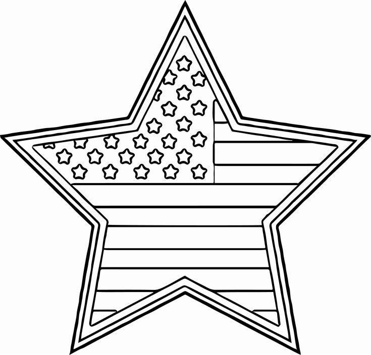American Flag Coloring Sheet For Kindergarten | Star ...