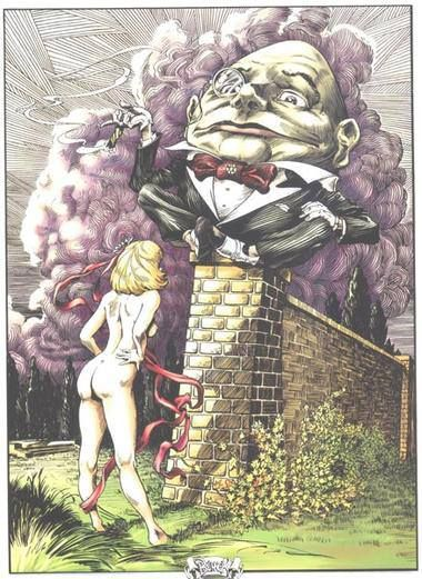 A cross over, adult, the egg and whole new dimension of Ms Alice...