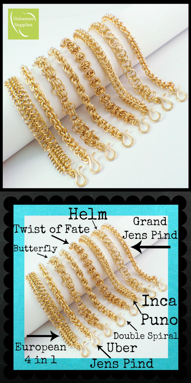 Diy tutorial kit brass chainmaille bracelets unkamensupplies