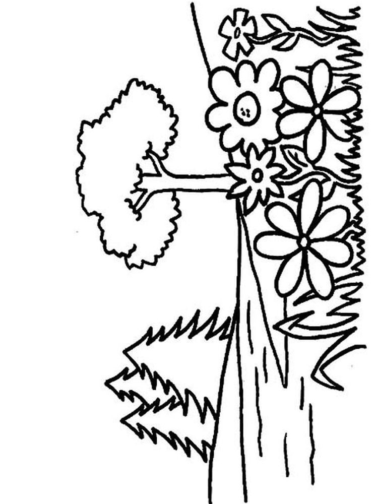 Flower Garden Coloring Pages Online When Winter Is Over All The
