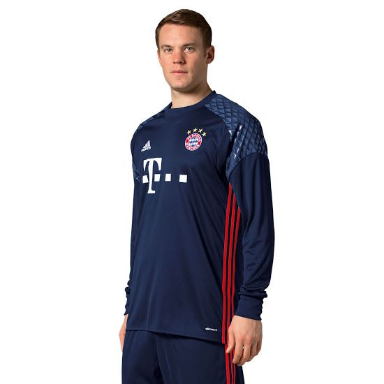 soccer jersey bayern münchen 16 17 goalkeeper kit dark blue jersey germany