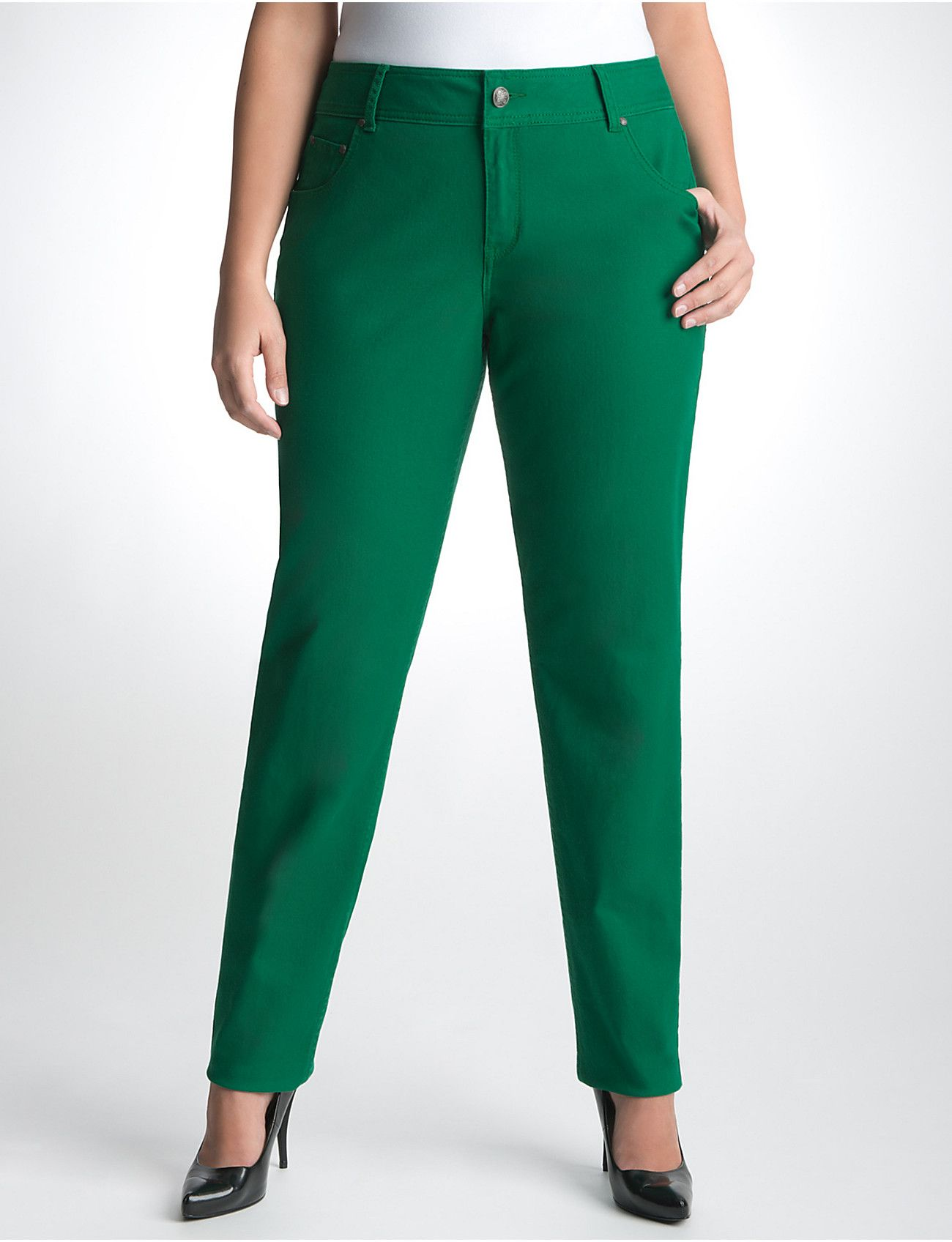 Emerald Plus Size Colored Skinny Jean by Lane Bryant available at ...