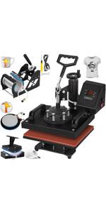Amazon Com Vevor 12x10 Inch Heat Press Dual Digital Heat Press Machine 650w Swing Away Heat Press T Shirt Sublimat Heat Press Machine Heat Press Press Machine