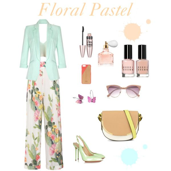 Floral Pastel by giampourasjewel on Polyvore featuring Quiz, Matthew Williamson, Charlotte Olympia, ALDO, Native Union, River Island, Maybelline, Guerlain and Bobbi Brown Cosmetics