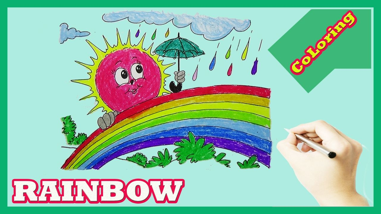 Learn Colors For Kids With Rainbow Coloring Pages | How to color ...