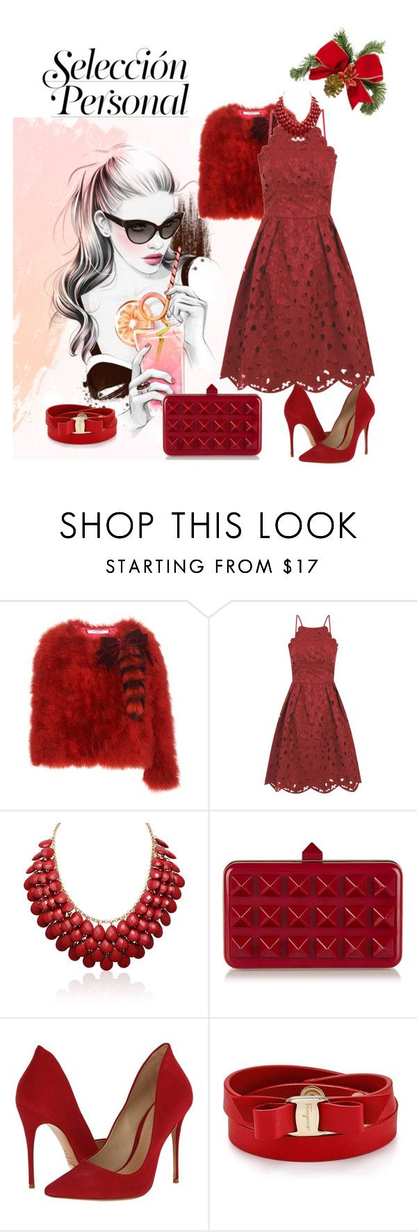 """""""Untitled #305"""" by missozlems ❤ liked on Polyvore featuring Givenchy, Chi Chi, Valentino, Schutz and Salvatore Ferragamo"""