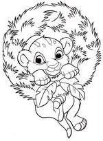 Lion King Coloring Page Christmas Coloring Sheets Merry