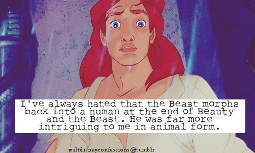 I get that being a human would make his and Belle's relationship a ...