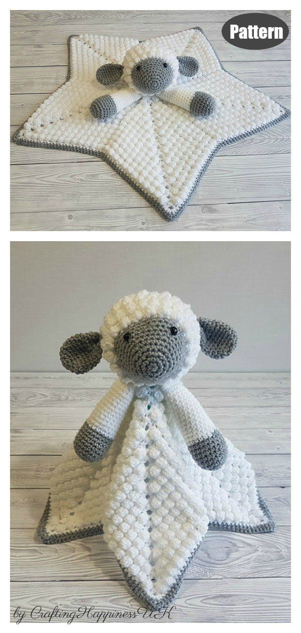 Little Lamb Baby Lovey Free Crochet Pattern and Paid