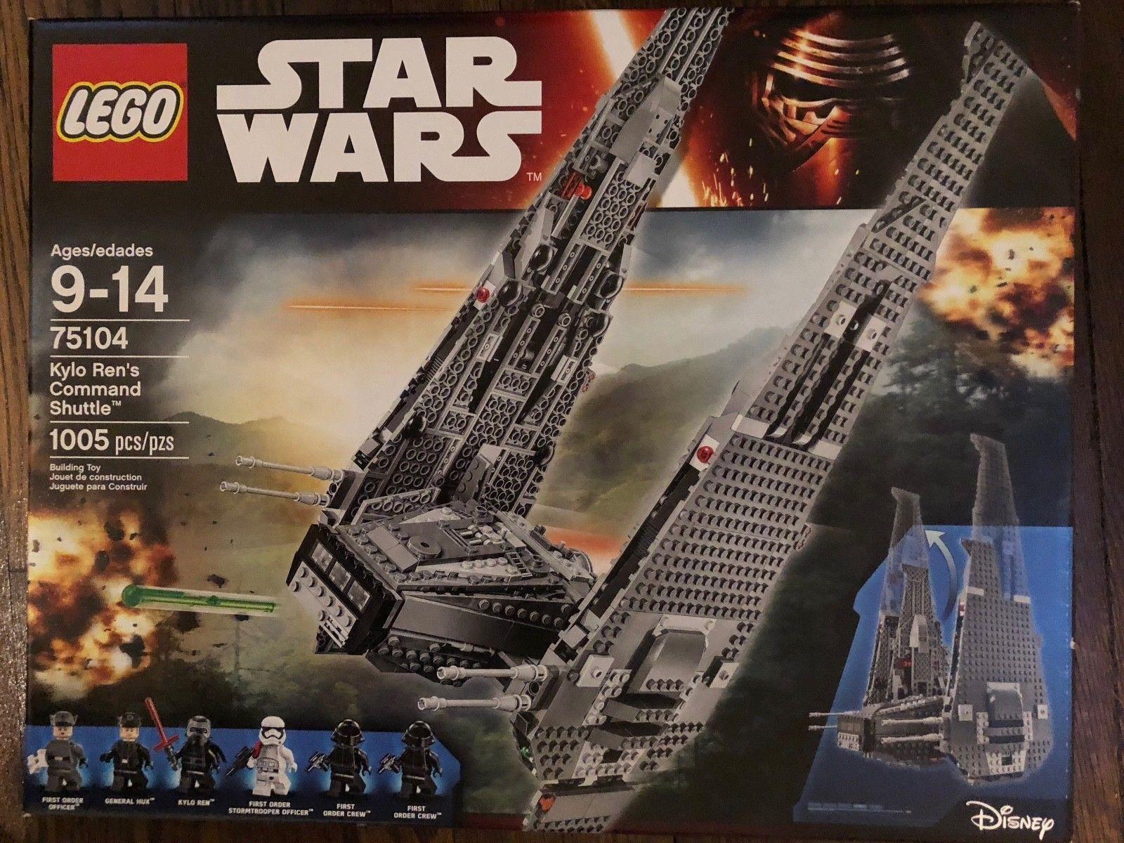 Lego Star Wars Kylo Ren S Command Shuttle 75104 New In Box Kylo Ren Command Shuttle Star Wars Kylo Ren Lego Star Wars