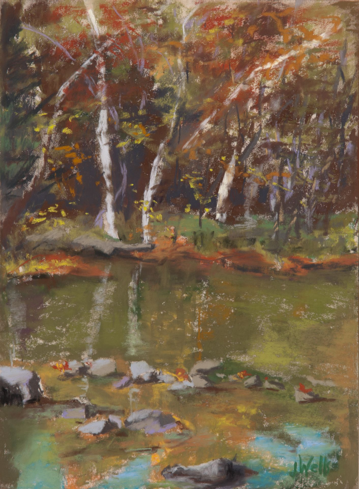 Wells, Mohican River Run 9x12 Cleveland museum of