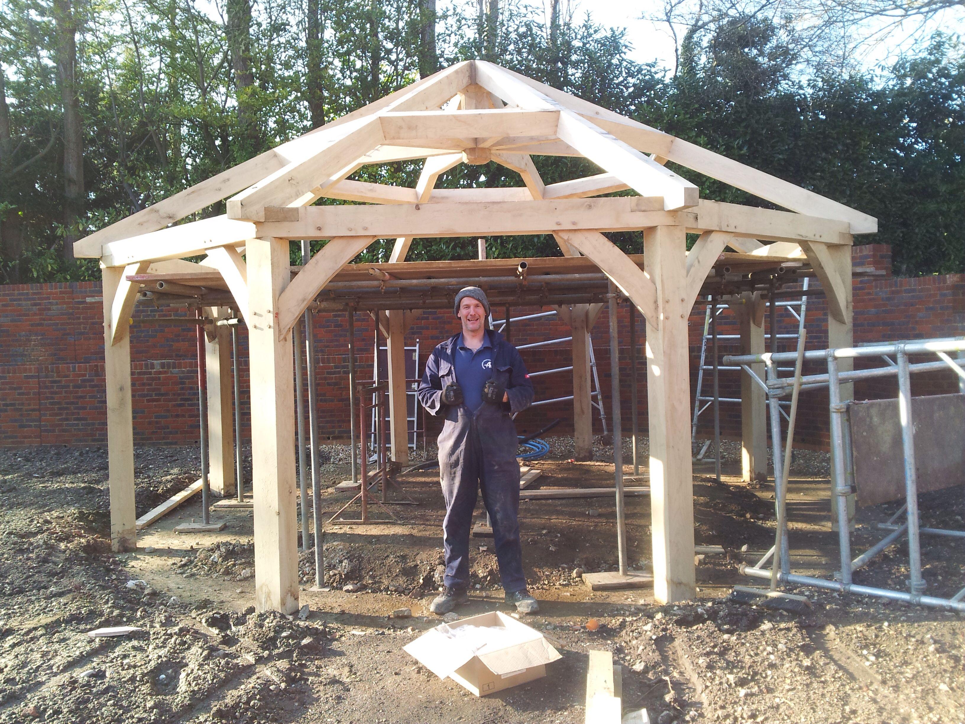 Oak gazebo frame kit diy gazebo for Gazebo floor plans