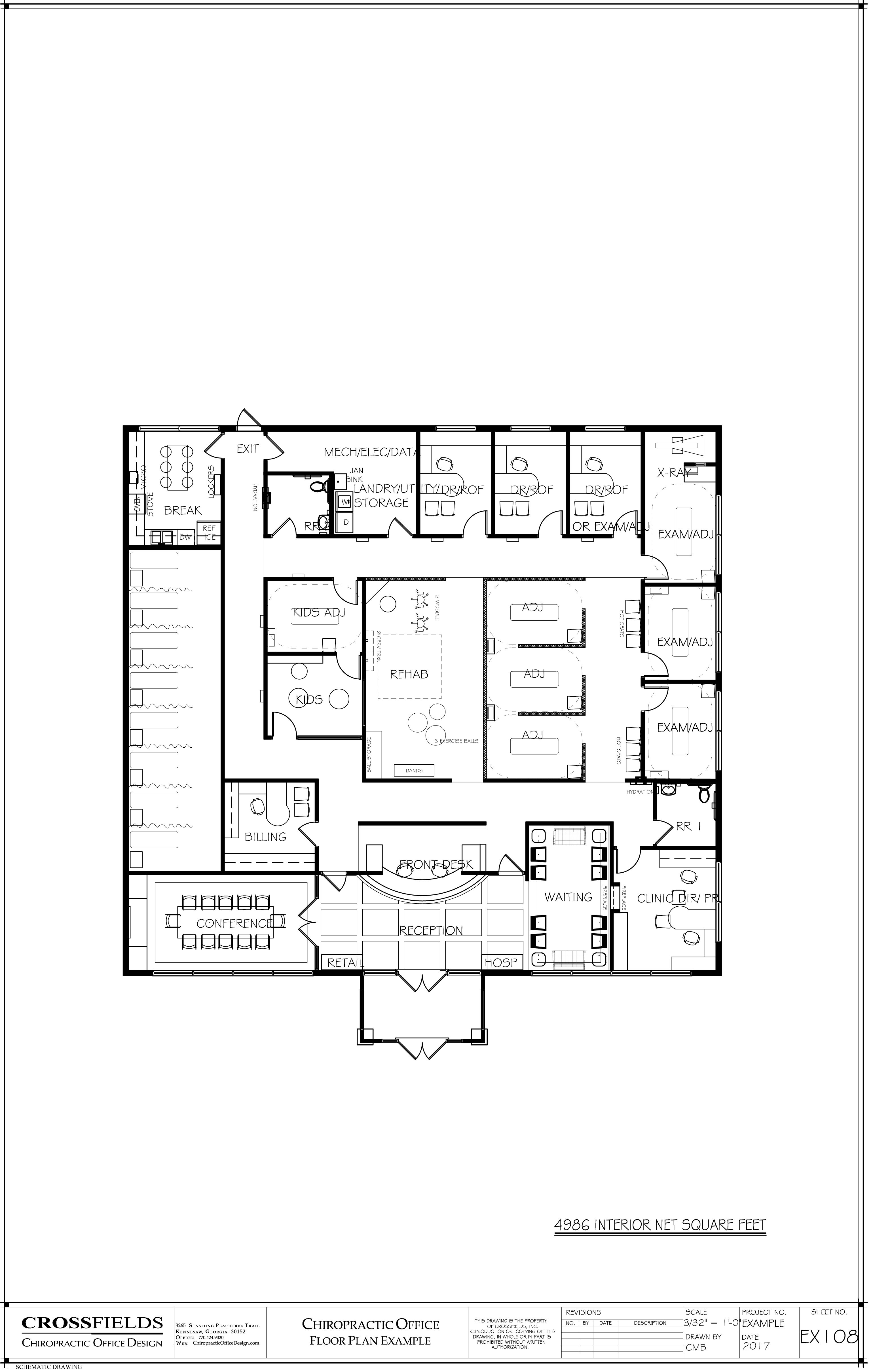 chiropractic office design for chiropractic office. Chiropractic Office Floor Plan Semi-Open And Closed Adjusting Rehab Kids Area Doctor XRay Clinic Director IST Therapy 4986 Interior Net Sq Ft Design For I