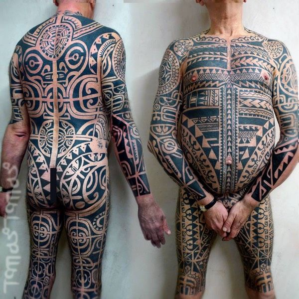 Maori Full Body Tattoo For Men: Pin Di Tommaso Bianchi Su Tattoos