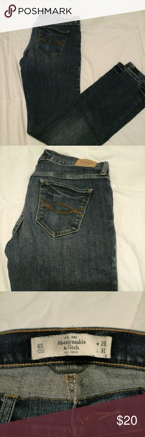 Abercrombie & Fitch 6s like new condition, medium wash. Abercrombie & Fitch Jeans Straight Leg