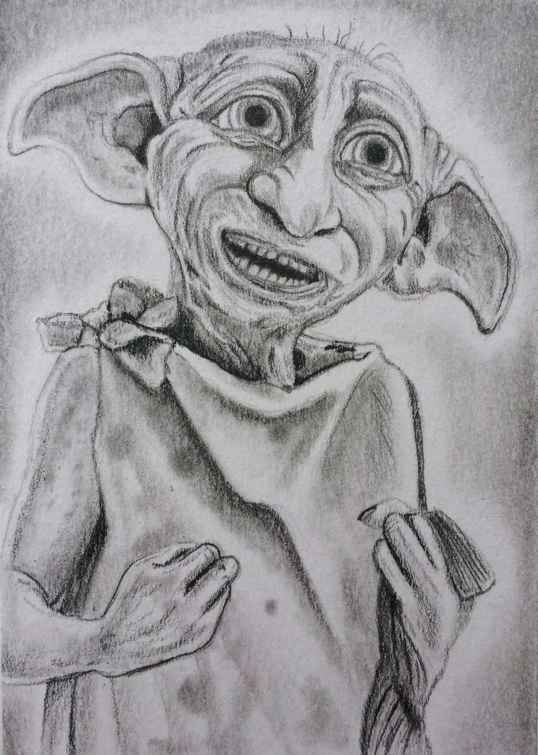 Dobby The House Elf From Harry Potter Aceo Sketch Art Card