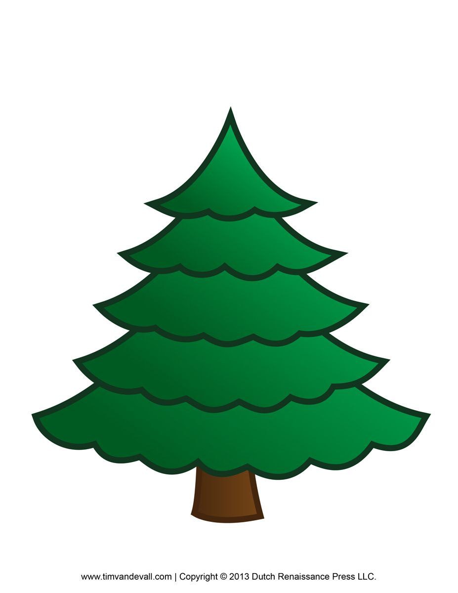 Christmas Clipart - Google Library-clipart Tree Template