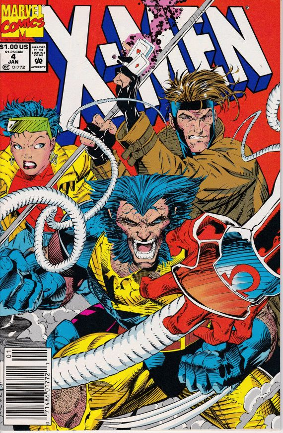 X Men 4 January 1992 Issue Marvel Comics Grade Nm By Viewobscura Jim Lee Art Marvel Comics Covers Comics