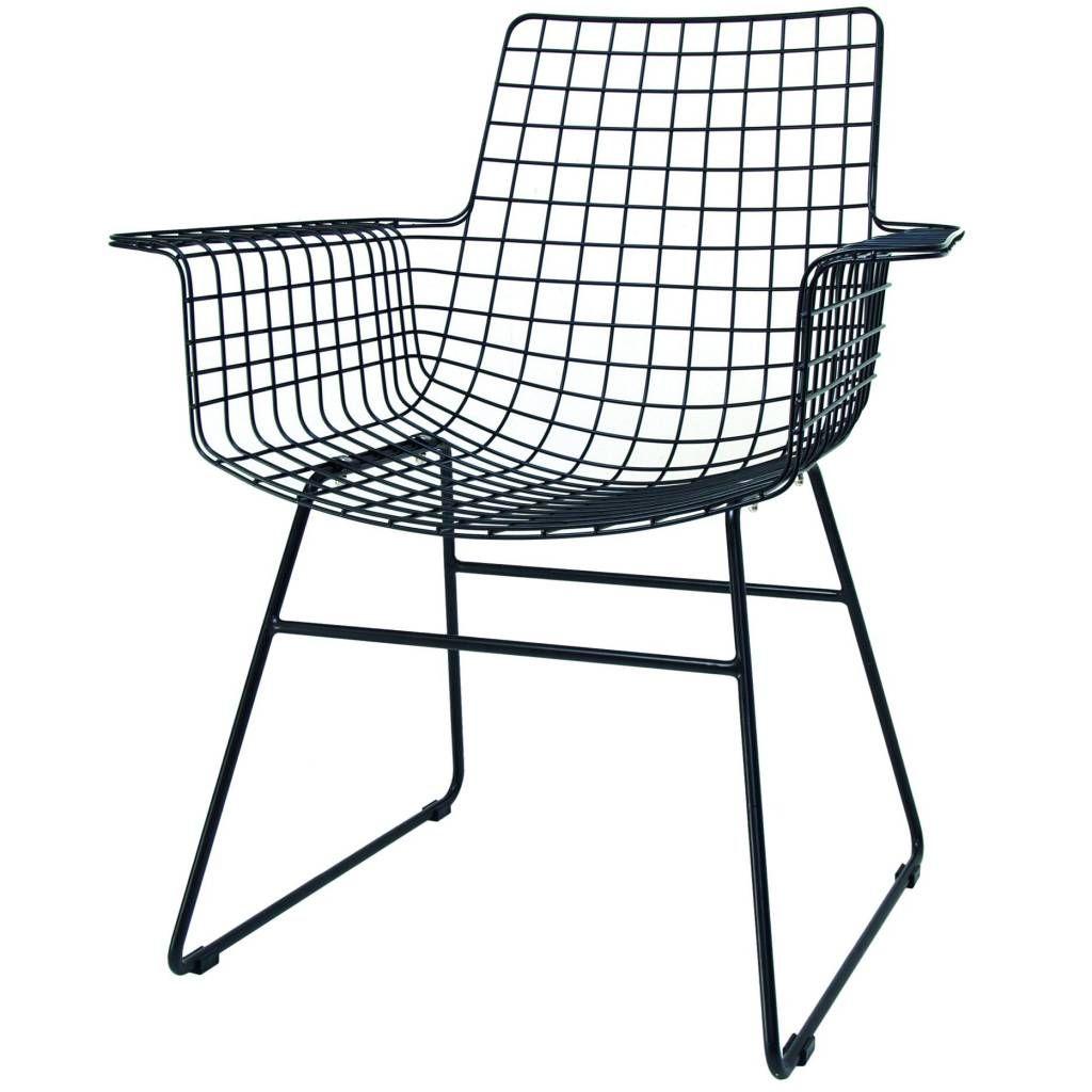 Diese Metalldrahtstuhl Draht HK-living Schwarz ist eine sehr schöne ...