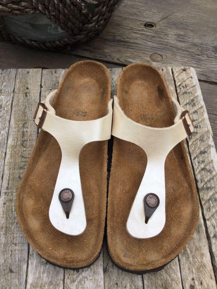 98ac419fb013 Birkenstock gizeh Pearl Birko-Flor Thong Sandals EUR 37 Women 6 men 4  Regular  fashion  clothing  shoes  accessories  womensshoes  sandals (ebay  link)
