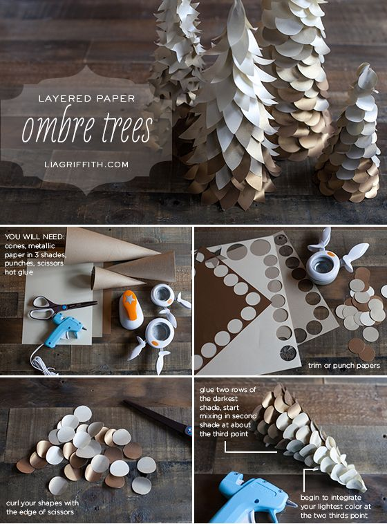 Ombre Cone Christmas Trees | #DIY Lia Griffith